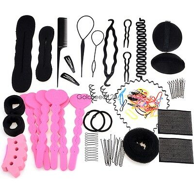 Women Fashion Hair Styling Clip Stick Bun Maker Braid Tool Hair Accessories