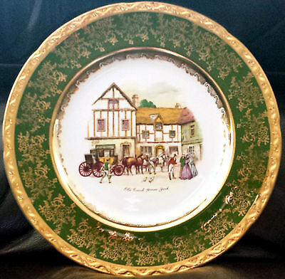 "Royal Falcon Ironstone Weatherby Hanley England ""Old Coach House - York"" Plate"