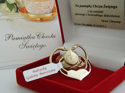 Personalised New Born Baby Boy Girl Christening Gift Silver 24 Gold Plated Dummy