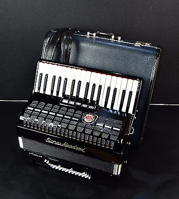 TOP ACCORDION ROYAL STANDARD/WELTMEISTER METEOR 60 bass+CASE~NEWLY CONDITION~DDR