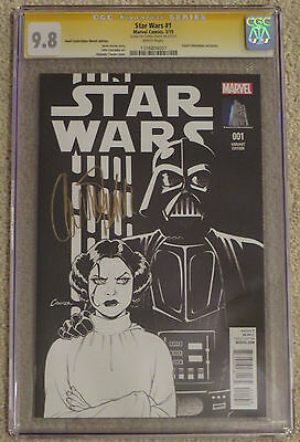 CARRIE FISHER Star Wars #1 Variant CGC 9.8 SS LOWEST PRICED SIGNATURE on eBay