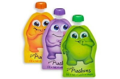 Reusable Squeeze Pouch 2 pack - Little Mashies, BRAND NEW  Baby Food container