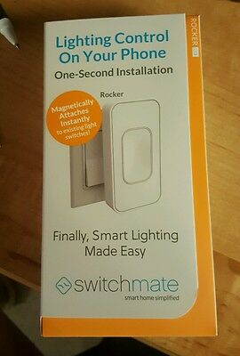 NEW Switchmate One-Second Installation Smart Lighting, Rocker, White