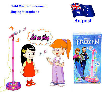 Kid Child Musical Instrument Singing MIC Phone Microphone LED Educational Toy BO