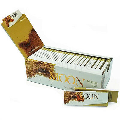 "Moon 1.0"" 50 booklets 70*36mm Cigarette Tobacco Rolling Papers Unbleached Papers"