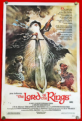 THE LORD OF THE RINGS - Original 1978 Australian cinema One-Sheet movie poster