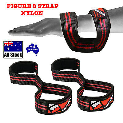 Figure 8 STRAPS Weight Lifting Gym Fitness Neoprene Padded HEAVY DUTY