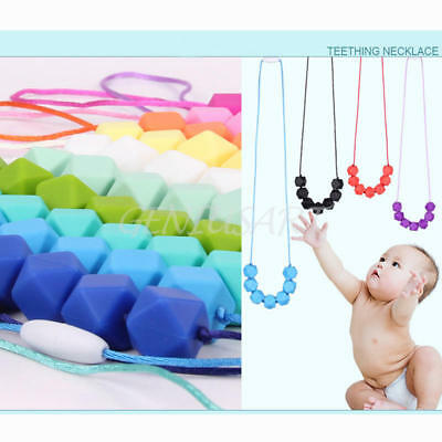 Chain Baby Silicone Teething BPA Free Necklace Cute Nursing Teether Beads