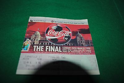 1998 League Cup Final Ticket Chelsea V Middlesbrough