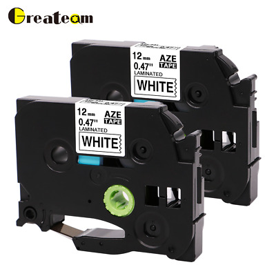 TZe-231 TZ-231 P-touch Label Tape Compatible for Brother Laminated 12mm 8m 2pk