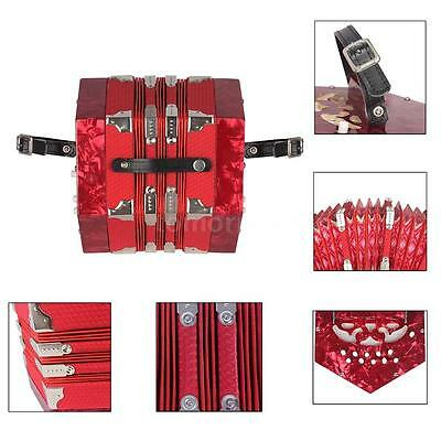 Concertina Accordion 20-Button 40-Reed Anglo Style with Carrying Bag D0Q2