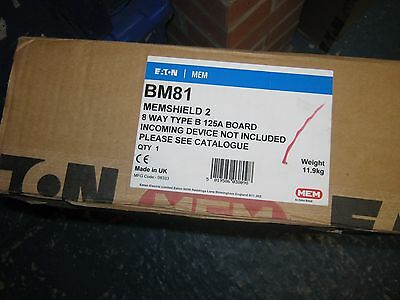 New Mem Eaton Memshield 2 Bm81 8 Way 3 Phase Distribution Board
