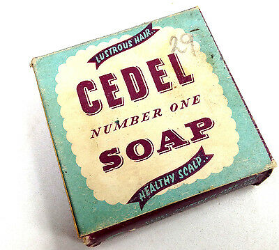 Vintage CEDEL NUMBER ONE SOAP Healthy Scalp Box with Content Medical Pharmacy