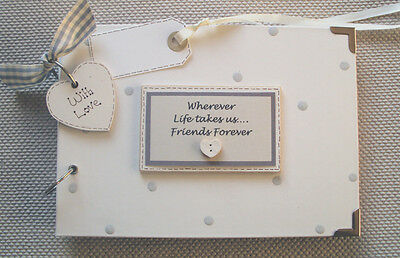 Personalised  Friends Forever..a5 Size ... Photo Album/scrapbook/memory Book