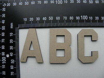 1 x Laser cut Wooden MDF Letter    50mm height 3mm thick   Custom orders