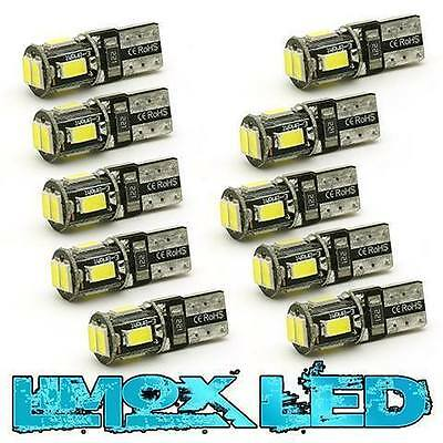 10x LED 6 SMD W5W Auto Lampe Standlicht Birne CANBUS T10 XENON WEIß 5630 SMD