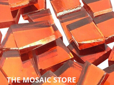 Orange Irregular Mirror Glass Tiles - Art & Craft Mosaic Supplies