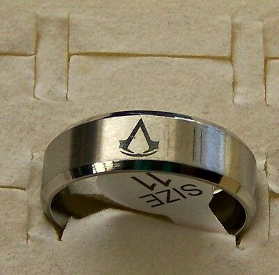 Size:7  ~Assassin's _ Creed  ~ Silver ~ S/steel ~  Ring --- (Great_ Gift)