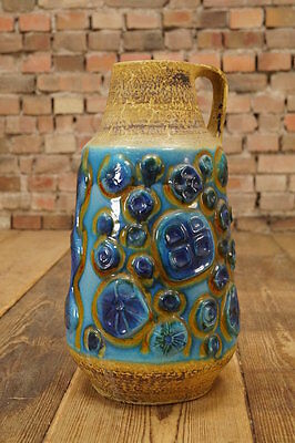 60s GERMAN CERAMIC Design BODENVASE ART POTTERY Mid Century Floor Vase 70er