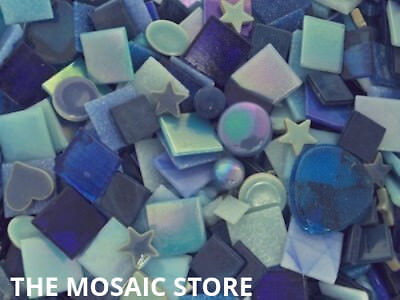 Mixed Blue Tile Colour Packs for Mosaic Art & Craft - Mosaic Tile & Supplies