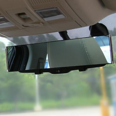 300Mm Universal Car Rear View Blue Mirror Anti-Glare Curved Convex Wide Surface