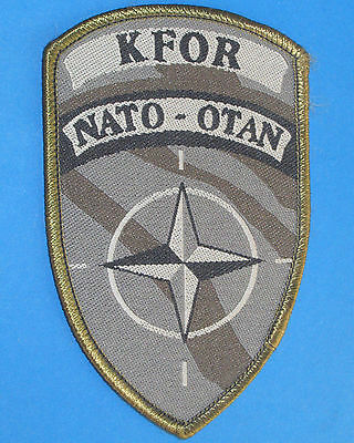 Danish KFOR NATO Patch KFOR subdued