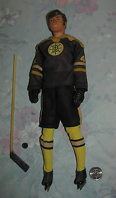Vintage 1970s Regal Toys NHL Bobby Orr Hockey Player Doll figure With gloves