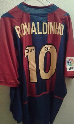 Ronaldinho For Players Doble Forro Camiseta futbol football shirt XL