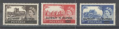 Kuwait  1955 Sc 117-9 QEII High Values Mint