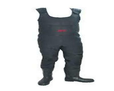 Tronix Pro Black  5Mm Neoprene Chest Waders Size 7 Plus Free Packet Of Studs