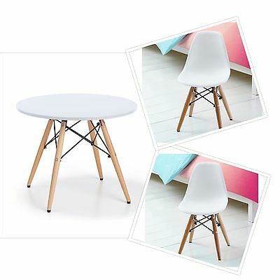 Kids Table and Chair Set New Children Toddler Activity Furniture Modern White