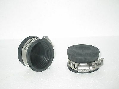 2 X Rubber End Cap 1.5 Inch  (Koi Fish Pond Filter)