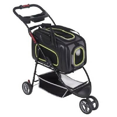Dog Stroller Pushchair Buggy Carrier 2in1 Small Dogs Cats Upto 8kg Versatile