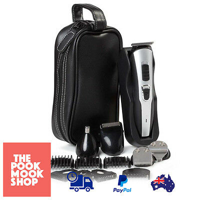 Hair Clipper Trimmer Beard Shaver - Cordless T U Blade + Pouch - Rechargeable