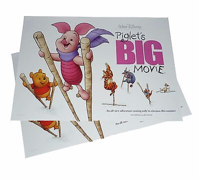 2X PIGLET'S BIG MOVIE 2003 Original Cinema Film Posters 30x40cm Winnie The Pooh
