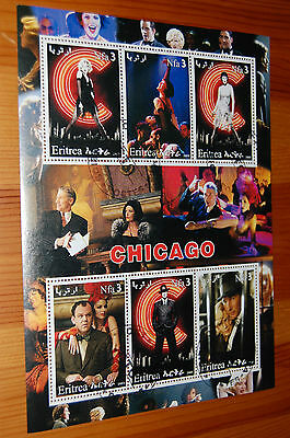 Chicago Film Eritrea 2003 Stamp Sheet VFU Richard Gere Catherine Zeta Jones etc