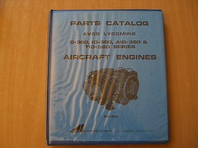 Parts catalog list Avco Lycoming O IO AIO TIO - 360 Serie aircraft engines