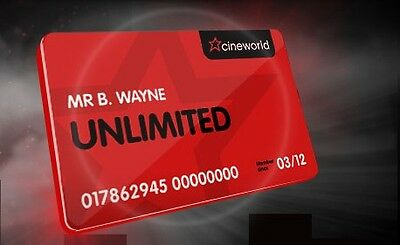 Cineworld Unlimited Card 1 Month Free - Discount Promo Voucher Code