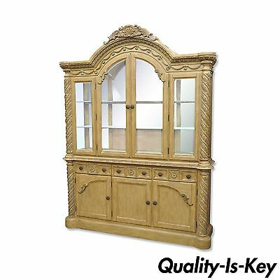 Ashley South Shore Coast Bisque China Cabinet Buffet Breakfront Cupboard North