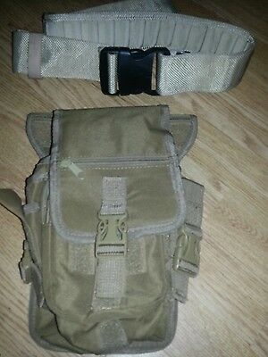 TACTICAL ARMY COMBAT  PISTOL BELT MILITARY.WEBBING & universal pouch