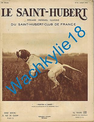 Le Saint-Hubert 08/1936 Chasse Pointer Gibiers marins Sterne
