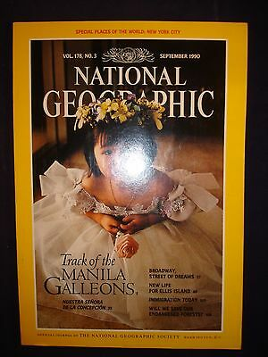 National Geographic September 1990  - Track of Manila Galleons