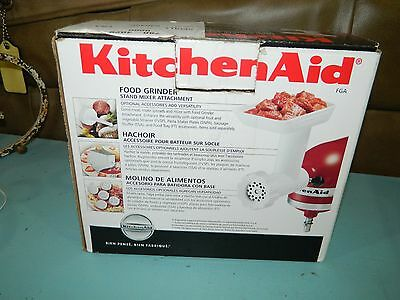 KitchenAid FGA Food Grinder Attachment for Stand Mixers White NIOB!