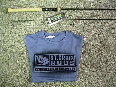 St. Croix Panfish 8'0 Lite Pfs80Lmf Spinning Rod - Free St. Croix Shirt