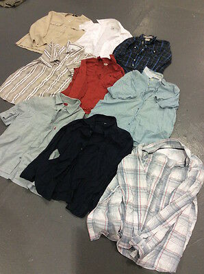 VINTAGE WHOLESALE JOBLOT Branded Levis Wrangler Checked Shirts Mix x 38