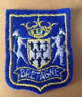 Vintage Bretagne France Ski Travel Souvenir Ski Patch