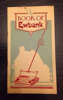 The Book Of Ewbank Antique Instruction Booklet For Cleaning Machine
