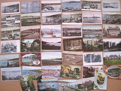 ROTHESAY Bute, Scotland, Job Lot of 41x Old Postcards, Mostly 1900-20s