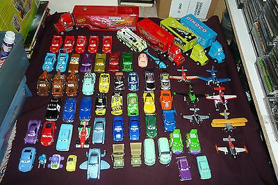 Disney Pixar Cars Diecast Character Car Lot 65 DIFFERENT CARS HAULERS & PLANES