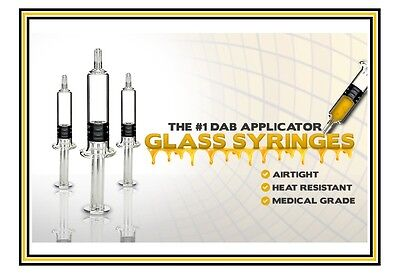 Glass Syringe Oil Dab Rx Concentrates Quality Boroscilicate Medical Grade 1Ml